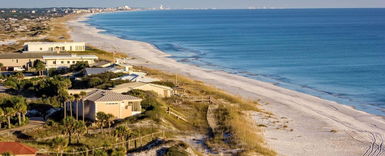 Destin Beach from the air