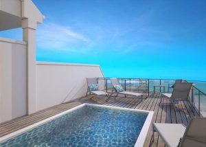rendering of the roofdeck pool