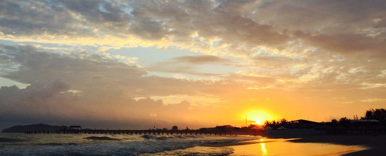 30A beach at sunset