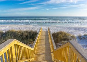 crystal clear private deck to the beach